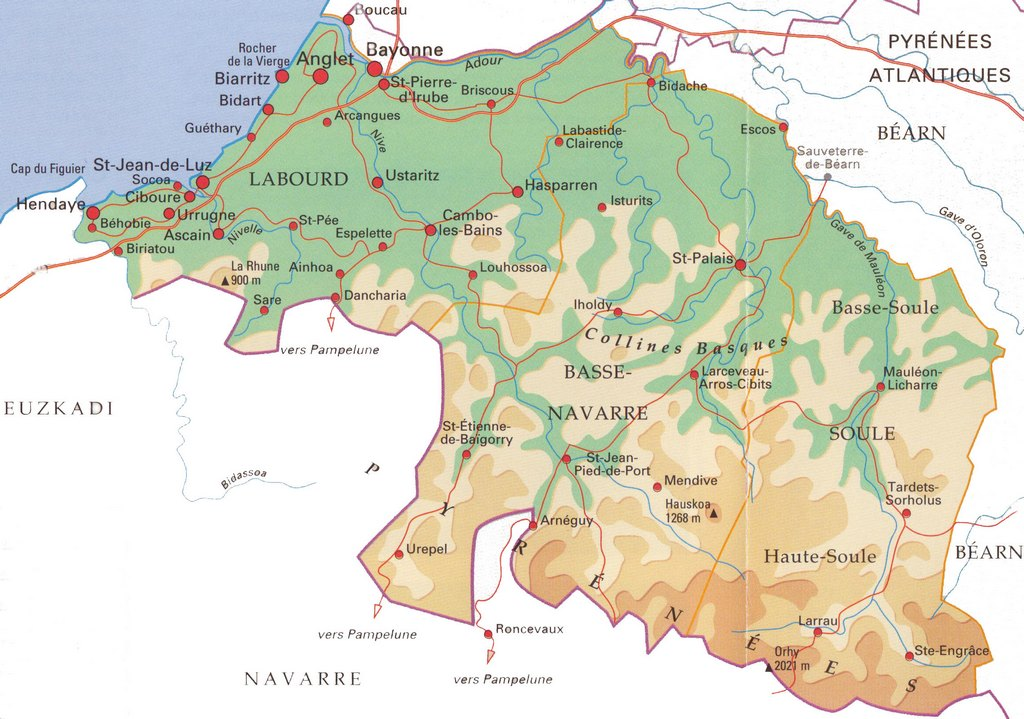 pays basque français carte Learn French with a book on the Napoleonic saga in Basque Country